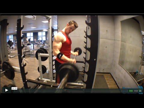 Smart2 Biceps Barbell Curls Am Power Rack Stopper Mit
