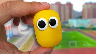 Живая Капсула - 100 Сюрпризов. Обзор на КАПСУЛЫ с игрушками Фиксики, фигурки Барбоскины и другие