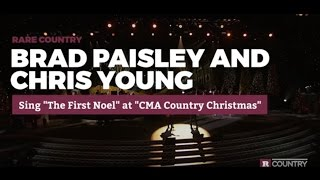 """Brad Paisley and Chris Young Sing """"The First Noel"""""""