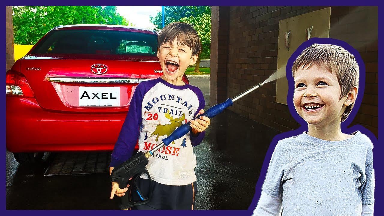 Axel At The Car Wash Youtube