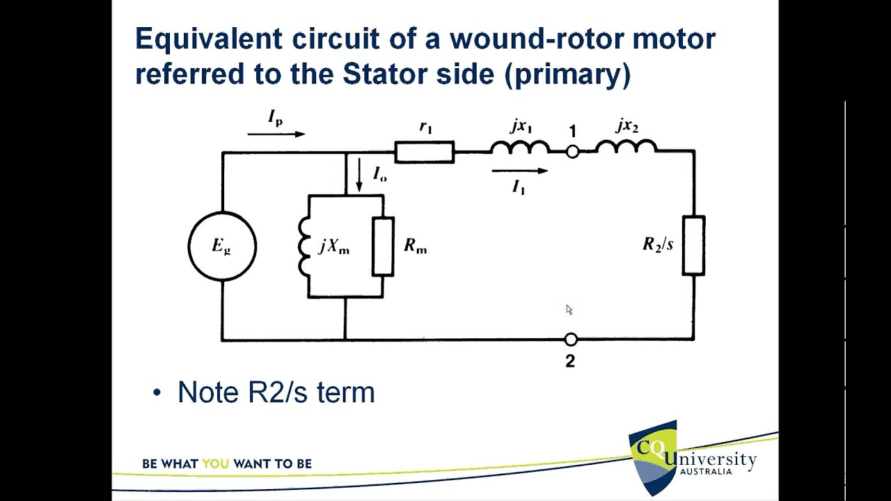 Equivalent Circuit Of The Three Phase Induction Motor