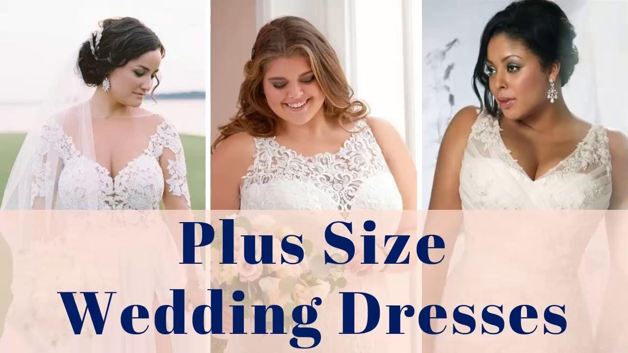 Plus Size Wedding Dresses-100+ Plus Size Wedding Gowns Curvy Women Bridal  Dresses & Gowns Large Size