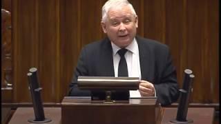 Jarosław Kaczyński - Wystąpienie Prezesa PiS w Sejmie