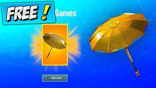 Unlock GOLDEN UMBRELLA In Fortnite (FREE GOLD GLIDER) Fortnite How To Get NEW RANKED ARENA REWARDS