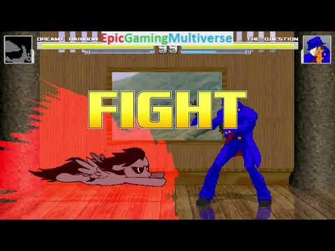 The Question VS Dreamy Rainbow On The Hardest Difficulty In A MUGEN Match / Battle / Fight