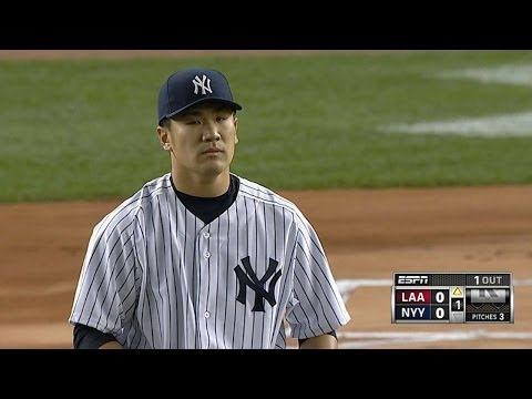 LAA@NYY: Tanaka strikes out 11 over 6 1/3 frames