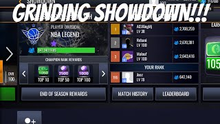 GRINDING TO TOP 10 IN SHOWDOWN IN NBA LIVE MOBILE 20!!!