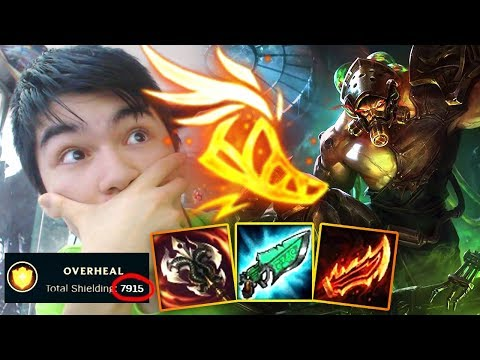 MAXIMUM HEAL TRYNDAMERE ! + GETTING CAMPED ! HARDEST GAME ON EVER ! YOUMUUS VS 5 MAN PREMADE SMURFS