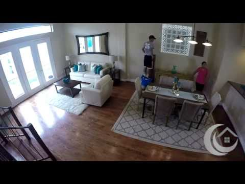 Watch Us Stage A Living Room Dining / Room Stage LIVE - Home Staging For Houston