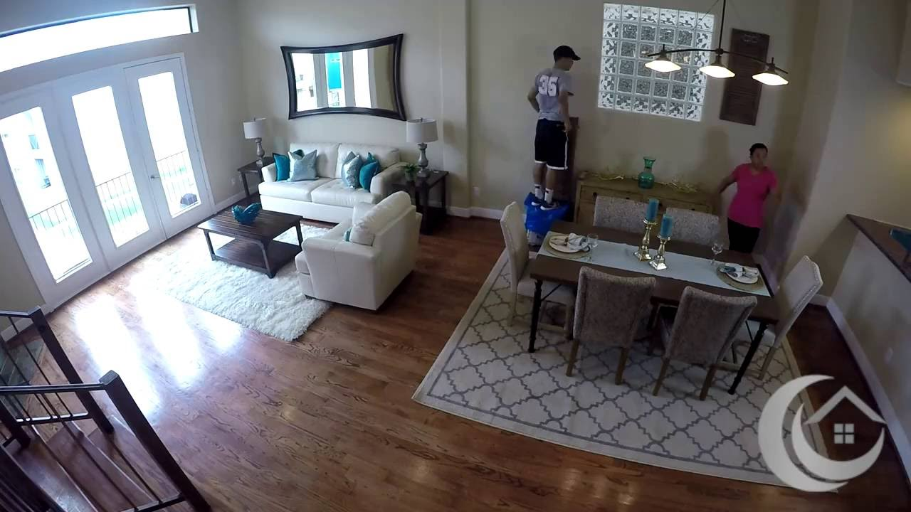 Watch Us Stage A Living Room Dining / Room Stage LIVE   Home Staging For  Houston