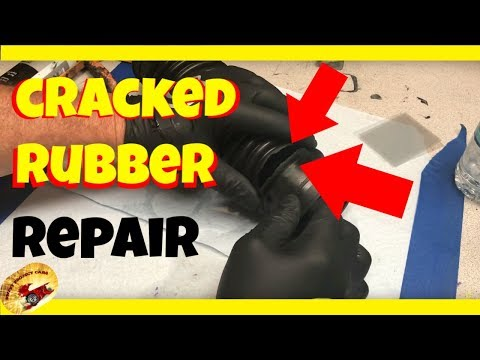 How To Repair Split or Cracked Rubber....Fasssst!