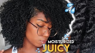 Moisturizing Natural Hair DETAILED - My Simple Routine | Type 4 Natural Hair