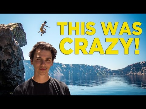 Cliff Jumping at Crater Lake National Park