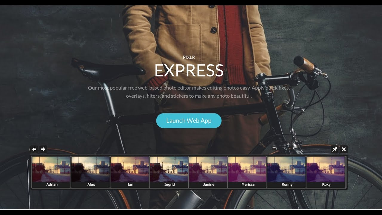 How to quickly edit your photos online - Pixlr Express
