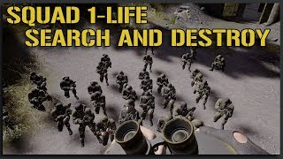 SQUAD 1-LIFE VIP SEARCH AND DESTROY - 40V40 Squad Gameplay