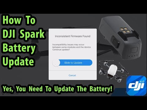 How To Update The DJI Spark Battery-Make Sure You Update Each One!