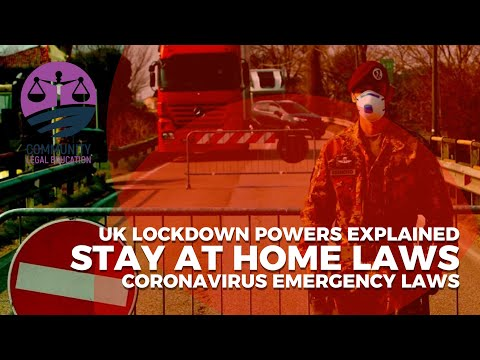"""""""STAY AT HOME"""" LAWS - UK lockdown powers explained - Community Legal Education"""
