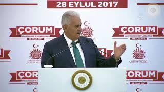 Başbakan Yıldırım, Çorum'da Kanaat Önderleri ve STK'lar Buluşması'nda konuştu - 28.09.2017
