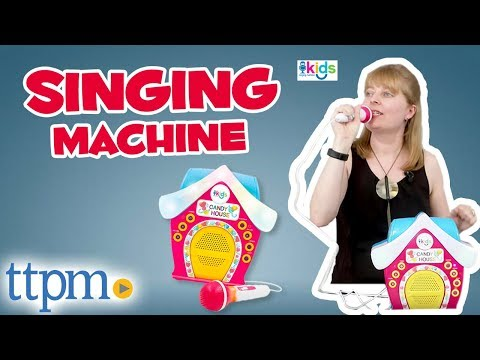 Singing Machine Kids Candy House Portable Bluetooth Sing-Along Speaker - Demo and Review
