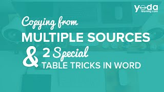 How to Copy From Multiple Sources in Word | 2 Special Table Tricks