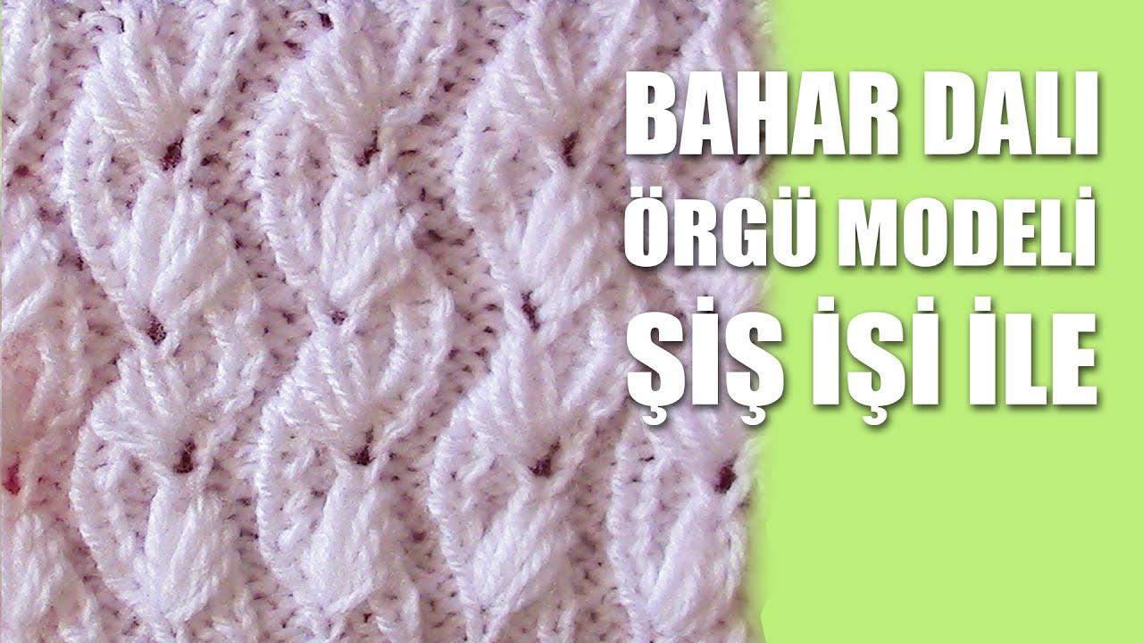 Üç Boyutlu Yapraklar Yelek Örgü Modeli Yapılışı Türkçe Videolu