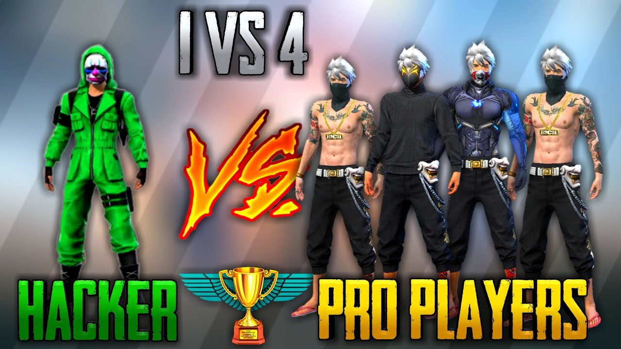 HACKER VS PRO[72 Vl] [4 Vs 4 ] FREE FIRE BEST EVER HACKER FIGHT||PRO Vs HACKER|| RUN GAMING TAMIL