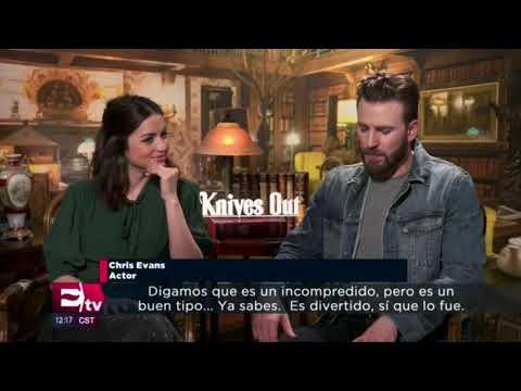 NEW -Chris Evans & Ana de Armas interview - Knives out