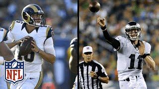 QB Mashup! Every Throw from Goff & Wentz in Week 1   2016 NFL Preseason Highlights