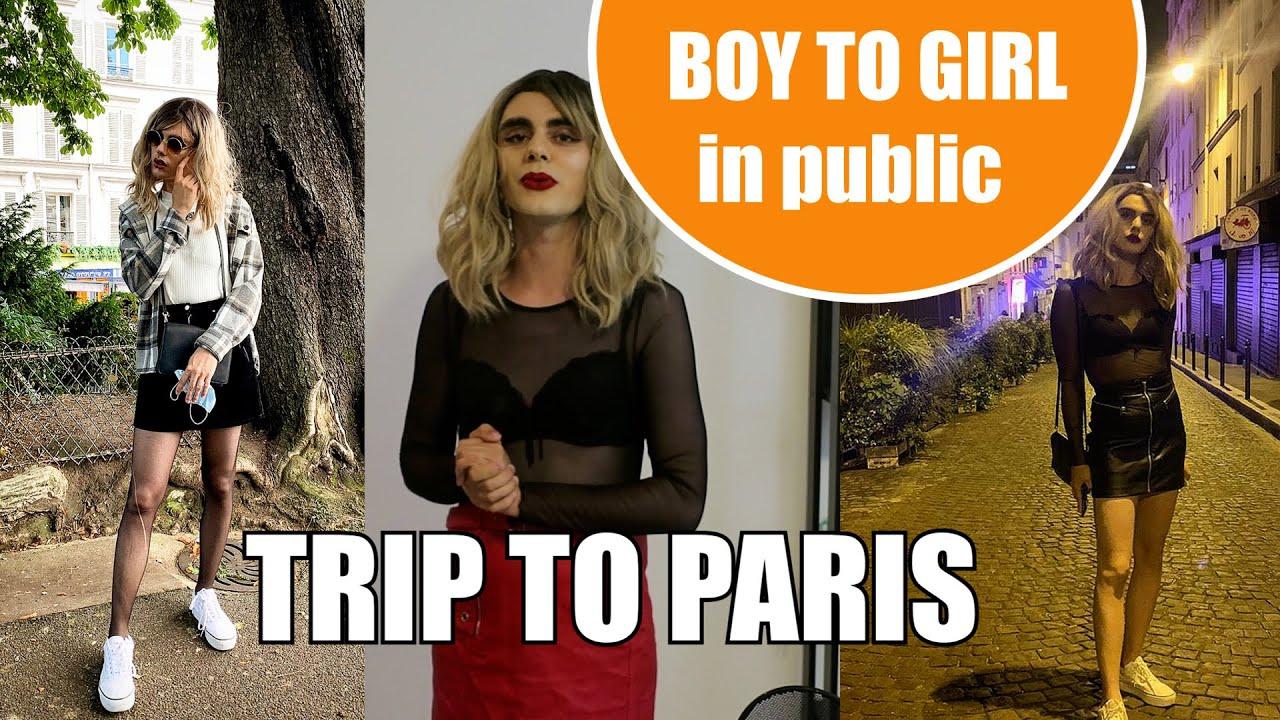 CROSSDRESSING IN PUBLIC | storytime #boytogirl #paris