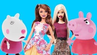Пеппа не выучила уроки а Барби узнала секрет Сюзи Мульт Свинка Пеппа