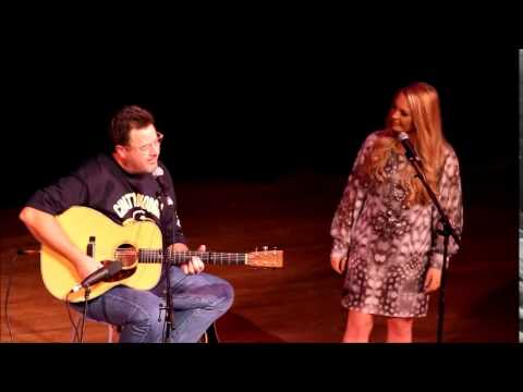 Janelle Arthur & Vince Gill singing When I Call Your Name 2014