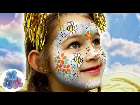 Como Pintar La Cara Abeja Bee Face Painting Ideas Carnaval Halloween St Patrick Pintura Facil