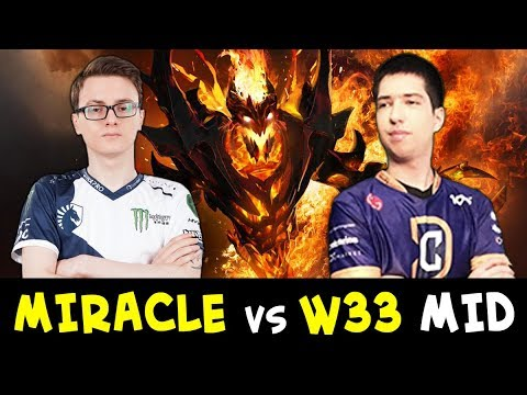 Miracle SF vs w33 Storm Spirit — winning mid is enough?