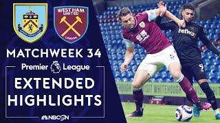 Burnley v. West Ham | PREMIER LEAGUE HIGHLIGHTS | 5/03/2021 | NBC Sports