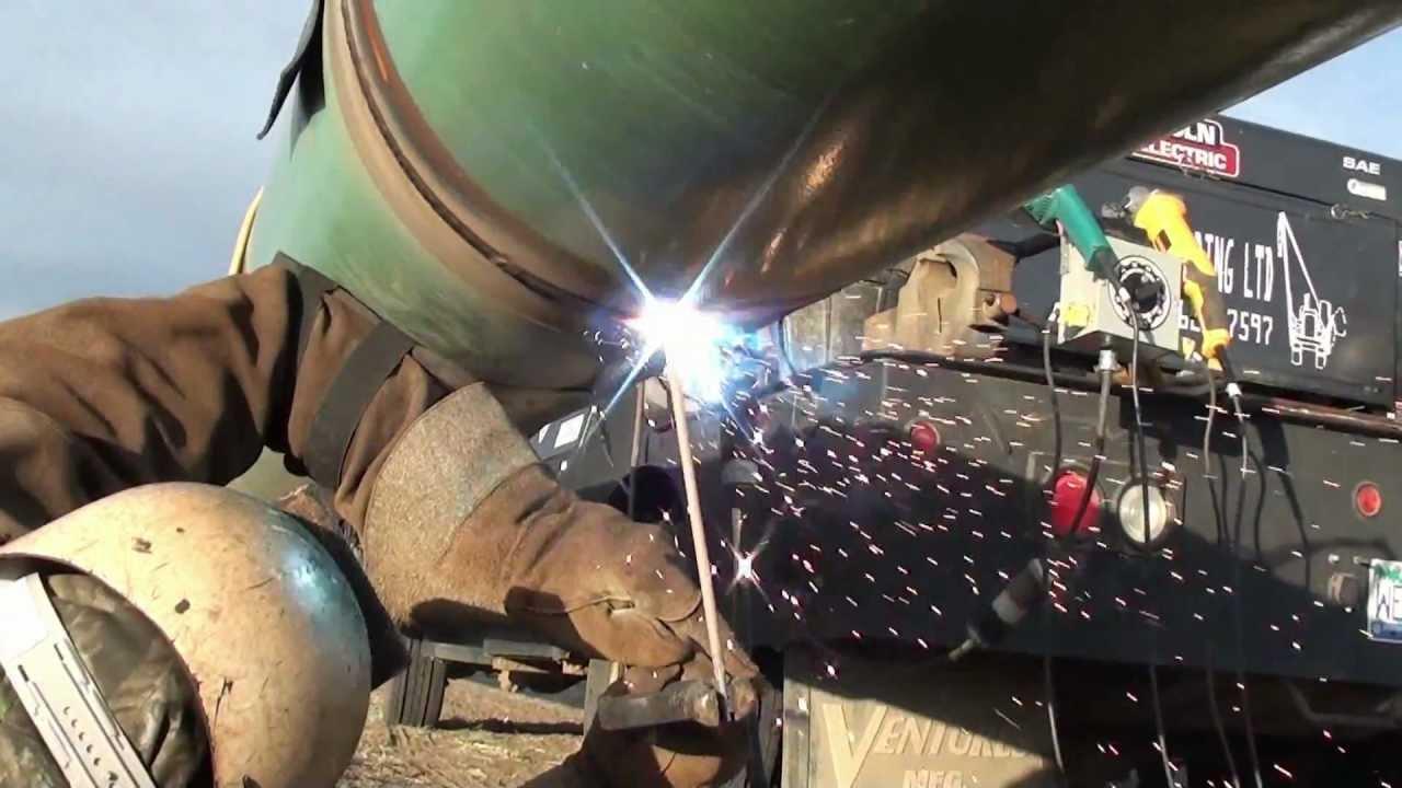 Welder Welding Pipe
