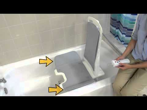 White Bellavita Auto Bath Tub Chair Seat Lift Youtube