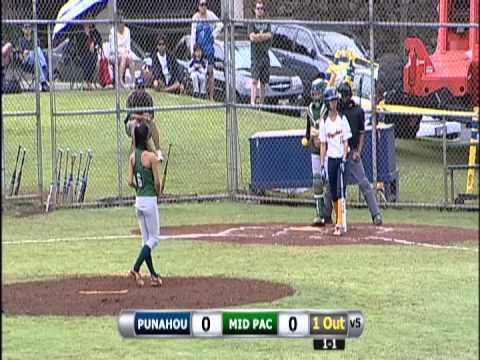 2013 Softball: Punahou vs. Mid-Pacific Institute (March 23, 2013)