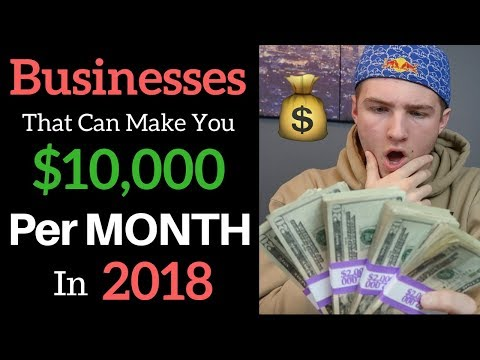 3 Ways To Make $10k/Month Online In 2018 (Business Ideas)