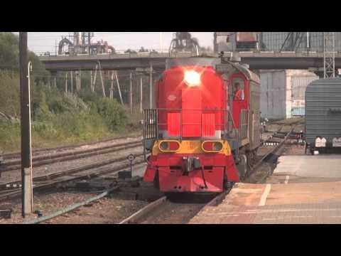 """Прибытие """"рабочего"""" поезда на ст.Белинская."""