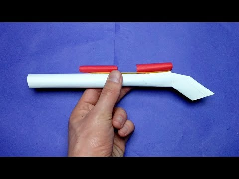 HOW TO MAKE A PAPER WEAPON THAT SHOOTS AND HURT EASY FOR KIDS
