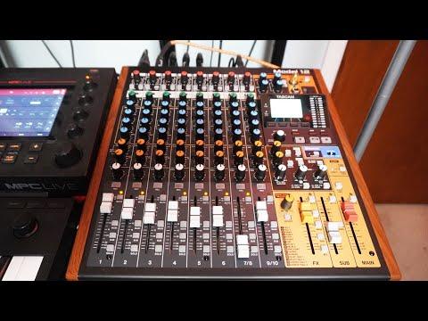 Setting Up Tascam Model 12 Mixer  vlog 04152020