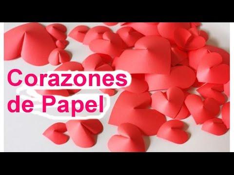 Cómo hacer corazones de papel en 3D - Manualidades de Lina