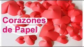 Manualidades para San Valentin: Corazones de papel - Manualidades para el 14 de febrero