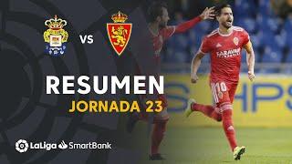 Resumen de UD Las Palmas vs Real Zaragoza (0-1)