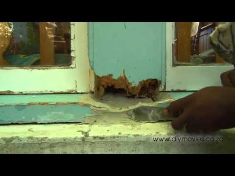 Repairing rotten wooden window frames great tips youtube for How to repair exterior window sill