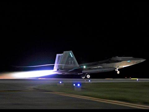 Magnificent F-22 Raptor Night Takeoff