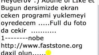 Ekrani ceken proqram yukle