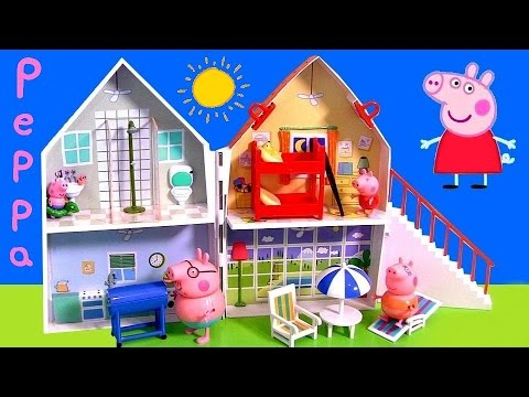 NEW Peppa Pig Holiday Sunshine Villa Playset 2015 Casa de Vacaciones y Vacanze by Disney Collector