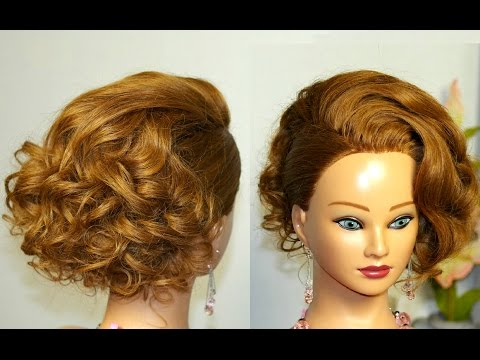 Прическа на средние волосы имитация  Карэ.