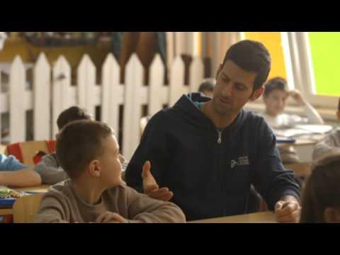 Novak Djokovic poseta vrtica u Medosevcu blizu Nisa